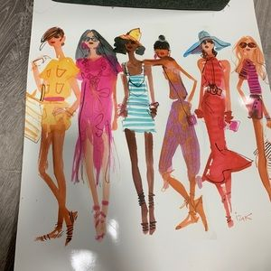 Henri Bendel girl original Izak Zenou illustration
